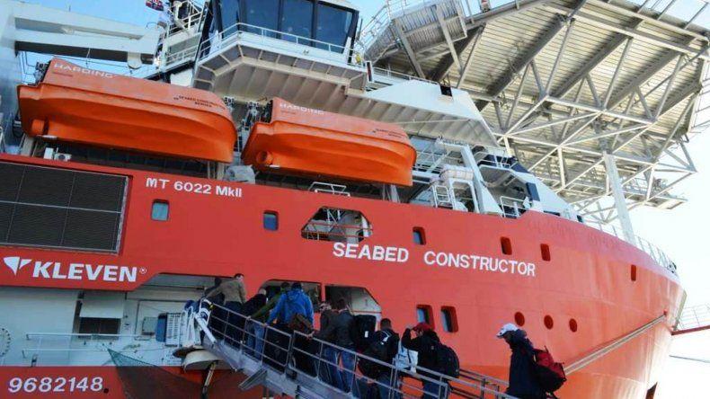 El buque de Ocean Infinity ya está en el puerto de Comodoro