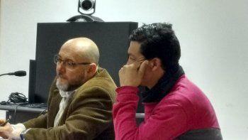 Silverio Valenzuela junto a su abogado defensor.