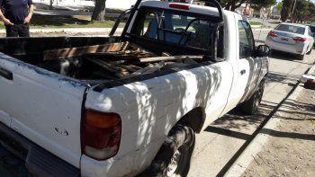 La camioneta involucrada en el accidente fue secuestrada.