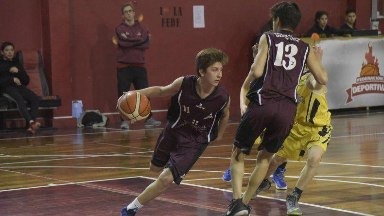 Federación Deportiva derrotó a Náutico Rada Tilly en el partido de la categoría U14.