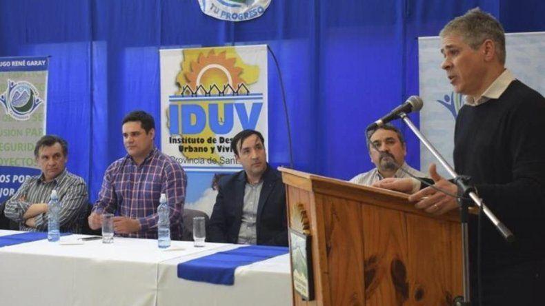 El vicegobernador Pablo González expuso en un acto institucional celebrado en la localidad de 28 de Noviembre.