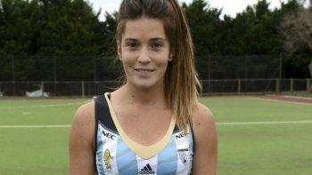 Agustina Albertario, delantera de la selección argentina de hóckey sobre césped femenino.