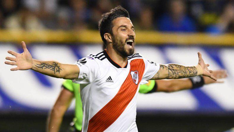 Ignacio Scocco será esta tarde titular en la formación de River.
