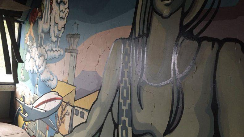 El mural pintado por Dolores Ocampo de Morón