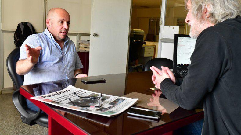 Ricardo Sastre durante su visita a El Patagónico: tengo claro que Comodoro y Madryn pueden ser los impulsores del crecimiento económico que permita una mejor vida para todos.