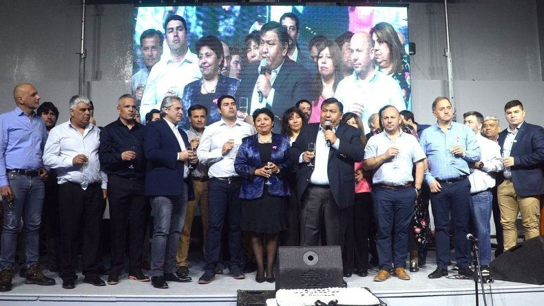 Petroleros festejaron un nuevo aniversario con dirigentes del PJ