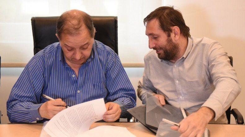 Rubricaron nuevo convenio para continuar con la reconstrucción de la trama vial