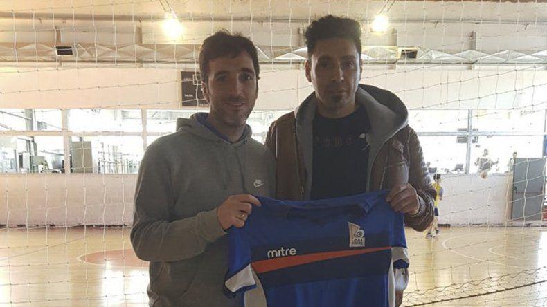 Andrés Silvera junto a Sixto Peralta
