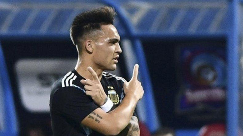 El bahiense Lautaro Martínez abrió el camino de la victoria ayer en el amistoso frente a Irak.
