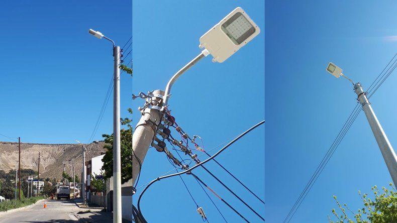 Se instalaron más de 50 artefactos con tecnología LED en Km 3