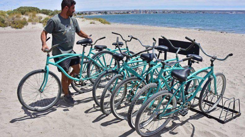 Desde el martes habrá bicicletas disponibles para recorrer Puerto Madryn
