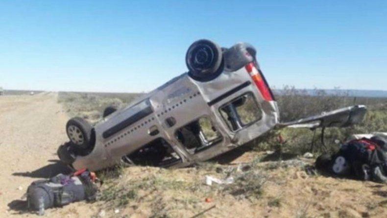 Cinco mujeres heridas en vuelco camino a Trelew