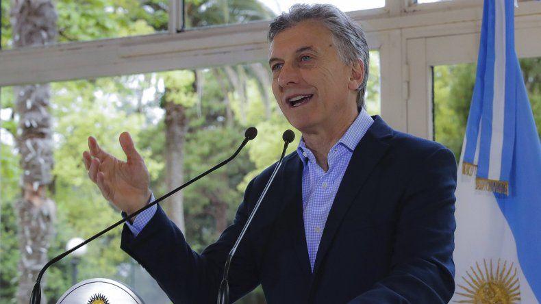 Mauricio Macri al anunciar ayer las medidas en materias de política habitacional.