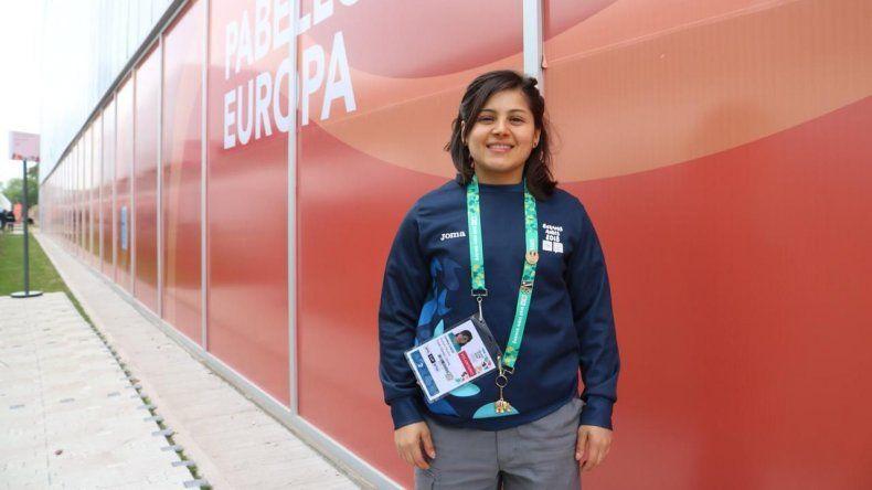 Cinthia Cádiz, una voluntaria de Rada Tilly