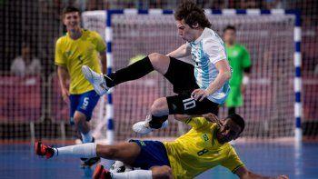 argentina cayo ante brasil e ira por el bronce en futsal