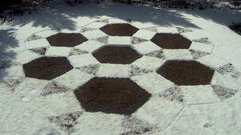 revelaron quien hizo los extranos dibujos en la nieve que aparecieron en neuquen