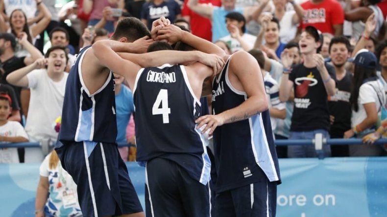 Los chicos del básquet 3x3 le dieron a la Argentina otra medalla de oro