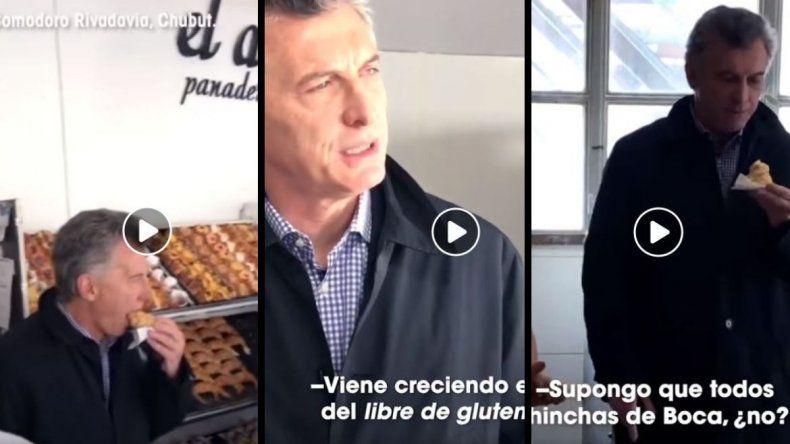 Mauricio Macri subió a las redes su visita a la panadería
