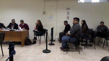 Los imputados en la causa del Instituto Provincial de la Vivienda que ayer fue elevada a juicio.
