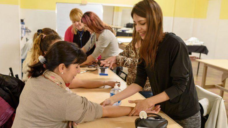 Cursos de formación laboral del Hospital Británico en KM 8