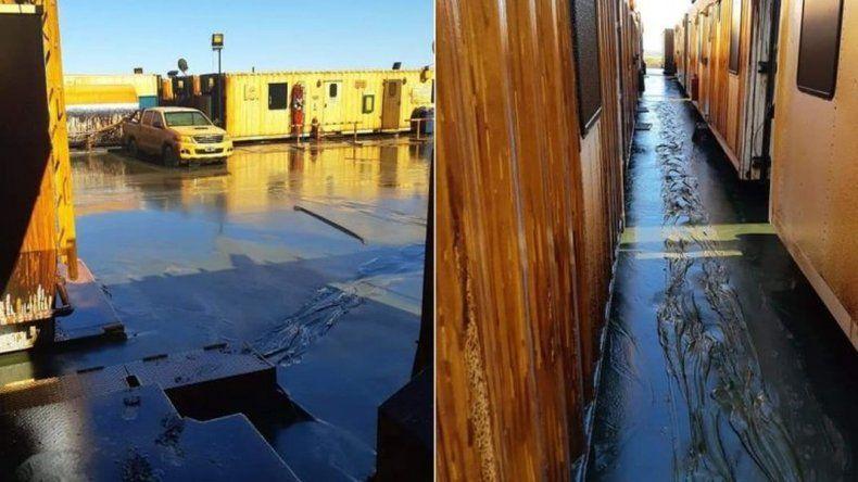 Más de 20 camiones cisterna intentan sanear un derrame de petróleo