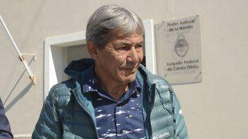 Pedro Milla se retiró del Juzgado Federal de Caleta Olivia excusándose de formular declaraciones a la prensa.