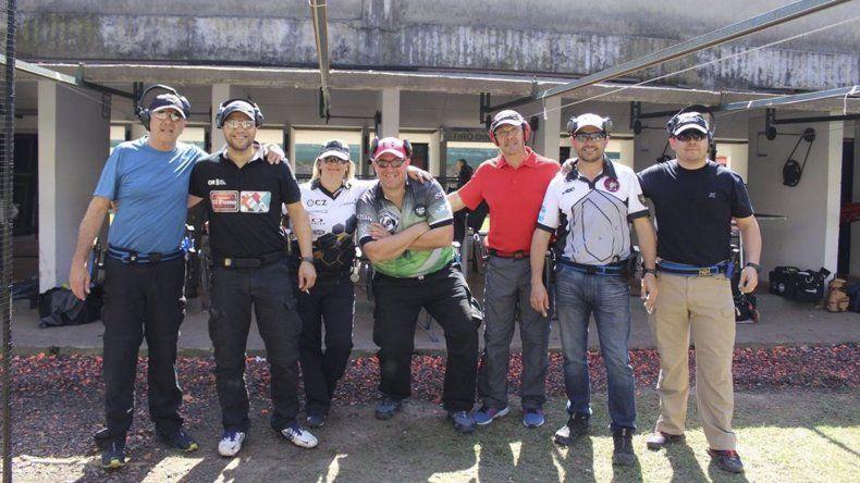 El grupo de tiradores del Círculo de Caza Mayor General Lagos de Comodoro Rivadavia.