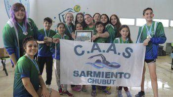 La pileta de Sarmiento fue punto de encuentro de la natación regional.