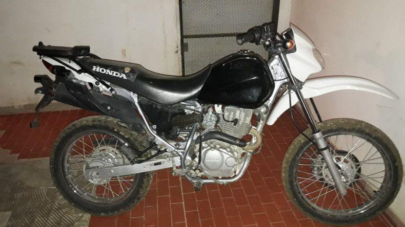 Secuestraron una moto robada en el 30 de Octubre