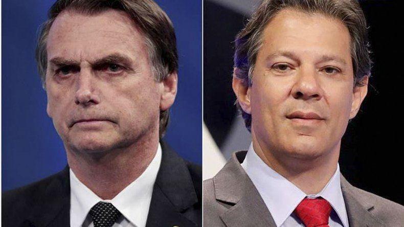 Jair Bolsonaro llega como amplio favorito y Fernando Haddad busca dar un batacazo.