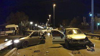 El accidente que se produjo en Ruta 3 y Garré, en el barrio Mosconi.