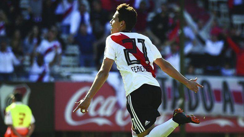 Cristian Ferreira festeja su gol