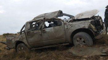 Volcó una camioneta sobre Ruta 3: hay cuatro heridos