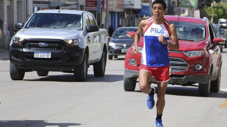 David Rodríguez en plena competencia.