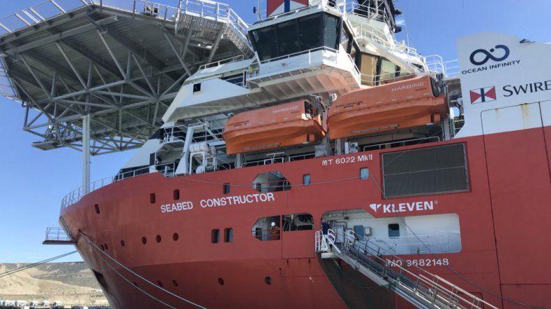 Regresó al puerto de Comodoro el Seabed Constructor