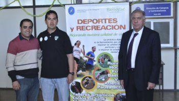 Lucas Pineda, Leonardo Illesca y José María Ferreyra de las Casas presentaron la clínica.