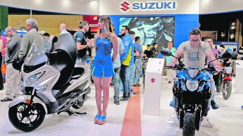 Deportivas. La japonesa Suzuki mostró sus especialidades en alta cilindrada. Además