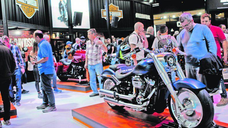 Americanas. Harley-Davidson fue otra de las grandes marcas presentes en la muestra