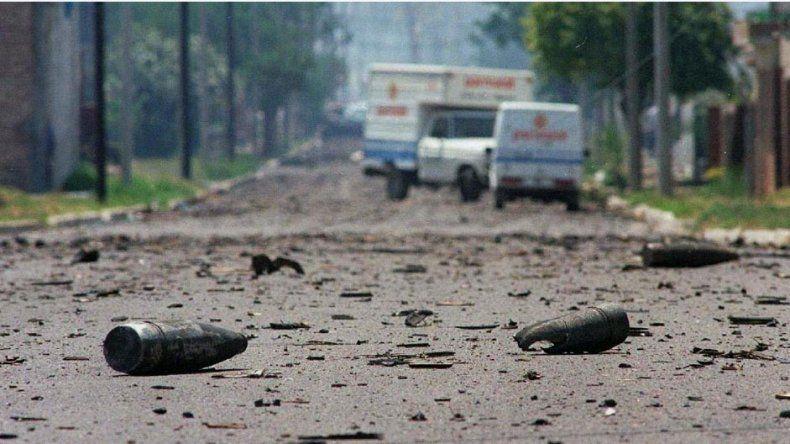 La explosión registrada en Río Tercero el 3 de noviembre de 1995.