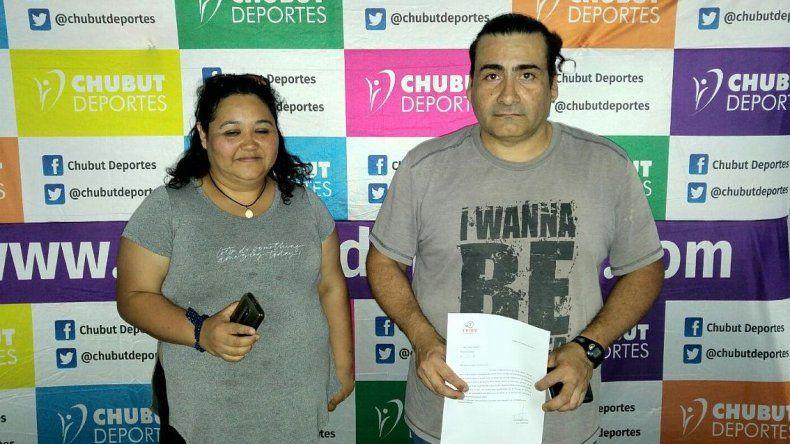 Liliana Sánchez y Alejandro Pope que viajarán al Nacional gracias al apoyo de Chubut Deportes.