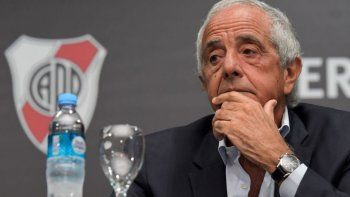 Rodolfo DOnofrio, presidente de River Plate que criticó ayer a la Conmebol por el trato a Marcelo Gallardo.
