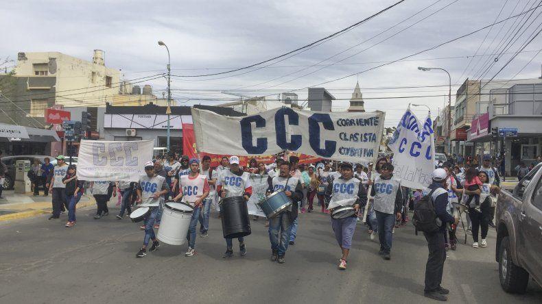 En Comodoro Rivadavia la movilización fue protagonizada por la Corriente Clasista y Combativa.