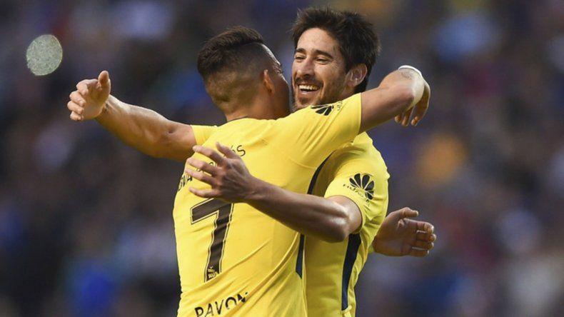 Cristian Pavón y Pablo Pérez se entrenaron con normalidad y están a disposición de Guillermo Barros Schelotto para la primera final de mañana.