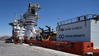 Aún no está confirmado si el buque de Ocean Infinity ingresará por cuarta vez al puerto de Comodoro Rivadavia antes de poner proa a Sudáfrica.