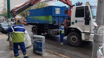 El municipio levantó escombros en calles céntricas como medida de prevención