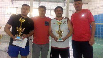 la dupla ramirez- quilapan, campeones del torneo de padel dia de la policia