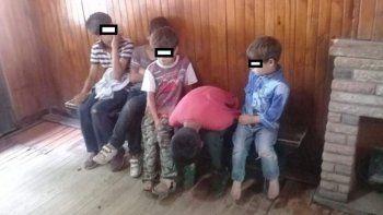 Abandonaron a cinco hermanos en una casilla