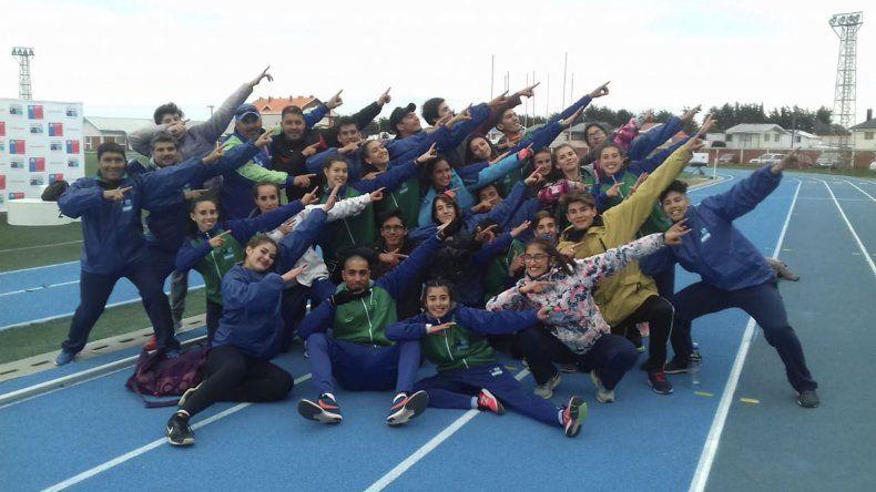 El atletismo chubutense volvió a dar una alegría, esta vez fue en la posta de 4x100 metros en los Juegos de la Araucanía.