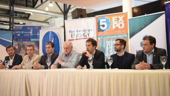 La conferencia de prensa que se efectuó ayer para presentar la Expo.
