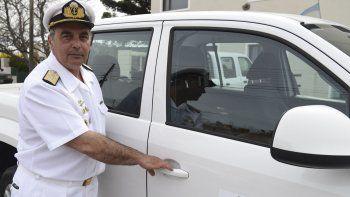 El exjefe del Comando de Operaciones Navales, contralmirante Luis López Mazzeo, se retiró alrededor de las 16:30 desde el Juzgado Federal de Caleta Olivia, tras declarar en calidad de testigo.